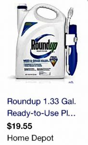 A container of Round Up on the Home Depot website