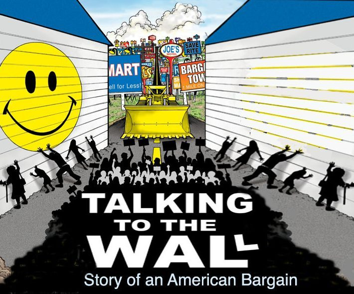 The poster for the Talking to the Wall documentary