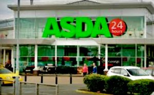 The storefront of an Asda grocery store